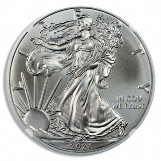 2021-P 1 oz American Silver Eagle MS70 Emergency Release NGC (Types Vary)
