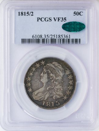 1815/2 Capped Bust Half Dollar PCGS VF35 CAC