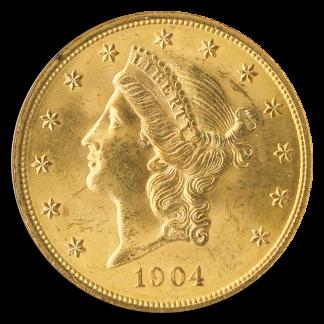 1904 $20 Liberty NGC Mint State 65(MS65) CAC