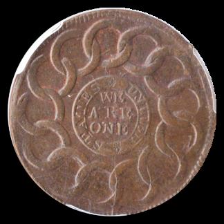 1787 Fugio Cent States United 4 Cinq PCGS MS64 Brown CAC +