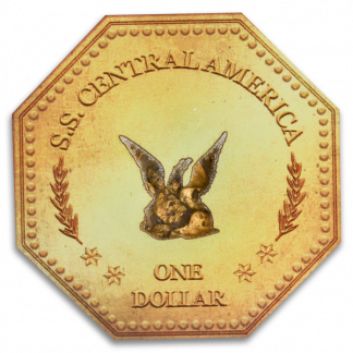 1857 $1 SS Central America 1.5 Grams Gold Nuggets