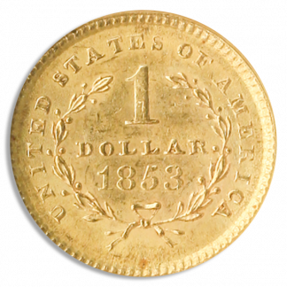 $1 Gold Type 1 MS63 CAC