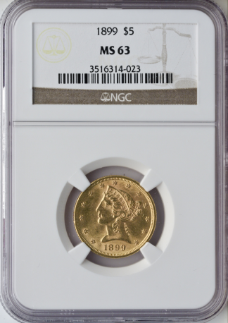 $5 Liberty MS63 Certified