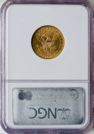 $5 Liberty MS64 Certified