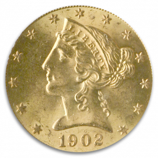 $5 Liberty Certified MS64 CAC