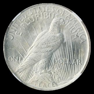 $1 Peace MS64 Certified