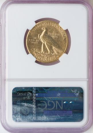 1911-D $10 Indian NGC AU53
