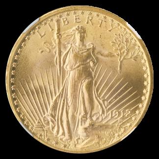 1912 $20 Saint Gaudens NGC MS65 CAC +