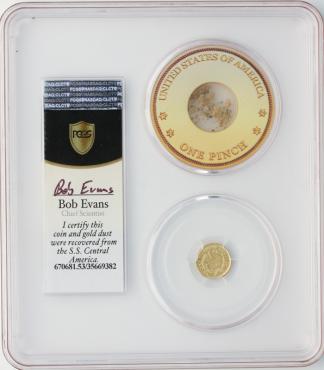 1851 $1 Gold SSCA POD PCGS AU53