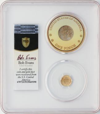 1852 $1 Gold SSCA POD PCGS AU55