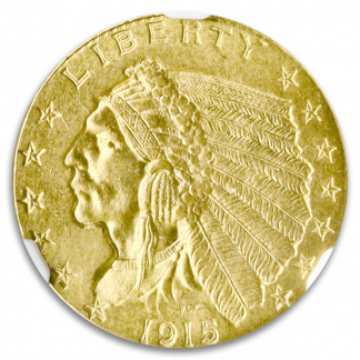 1915 $2.50 Indian NGC MS65 CAC