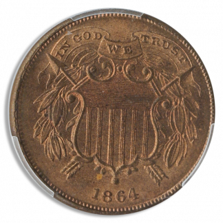 1864 2 Cent PCGS MS65 Red