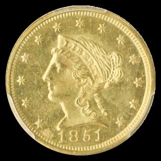 1851-C $2.50 Liberty PCGS MS64