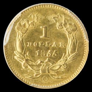1855-O Gold $1 Type II PCGS MS62