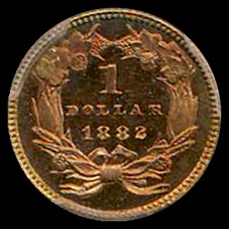1882 $1 Gold Type 3 PCGS PR66 CAC