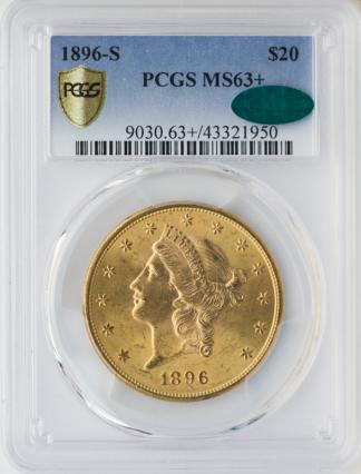 1896-S $20 Liberty PCGS MS63 CAC +
