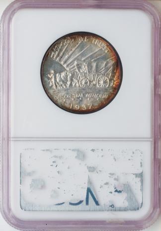1937-D Oregon Trail Silver Commemorative NGC MS68 CAC
