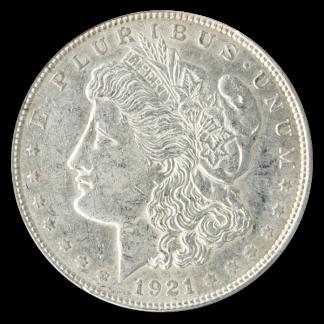 1921 Circulated American Silver Morgan Dollar
