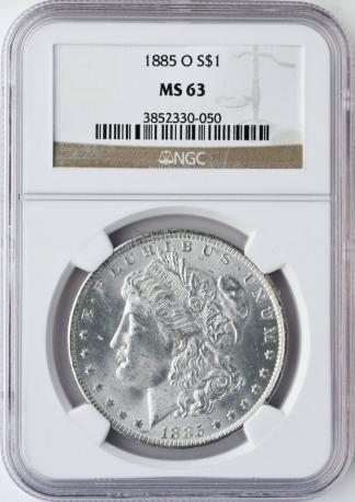 Morgan and Peace $1 Set NGC MS63