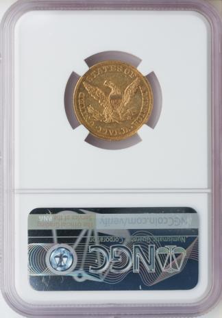 1861 $5 Liberty NGC AU58 CAC