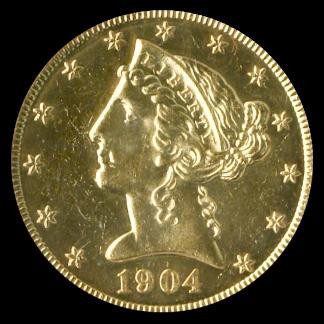 1904 $5 Liberty PCGS PR62 CAC