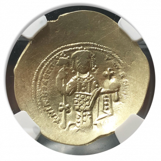 Byzantine Empire Nicephorus Christ Nomisma Cupped NGC Ch VF