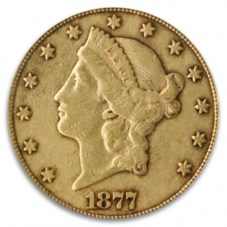 $20 LIBERTY 1877-CC