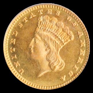 1881 $1 Gold Type 3 PCGS MS66