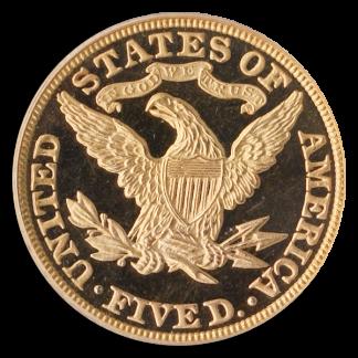 1882 $5 Liberty PCGS PR65 Deep Cameo CAC
