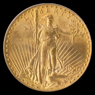1920 $20 Saint Gaudens PCGS MS64