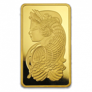 10 oz Gold Bars (Types and Conditions Vary)