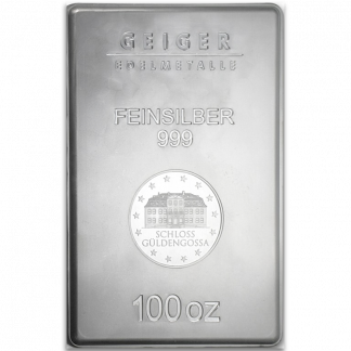 100 oz Silver Bars (Types and Conditions Vary)