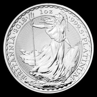 1 oz British Platinum Britannia Coin (BU, Dates Vary)