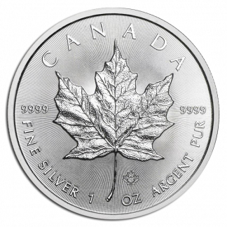 Any Date 1 oz Canadian Silver Maple Coin (DATES VARY, CONDITIONS VARY, BU)