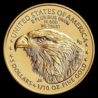 2021 1/10 oz Gold Eagle Coin (BU, Type II)