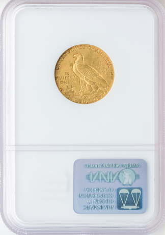 1909-O $5 Indian NGC AU55