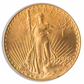 1910-D $20 Saint Gaudens PCGS MS65 CAC