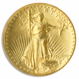 1907 $20 Saint Gaudens High Relief NGC MS65 CAC