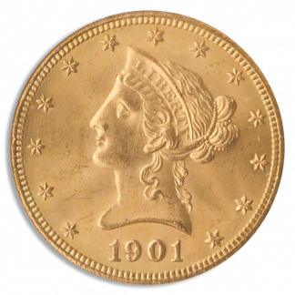 1901-S $10 Liberty Gold Coin NGC Mint State 65(MS65) CAC
