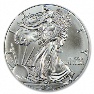 2021(S) 1 oz American Silver Eagle MS 70 Emergency Release NGC (Types Vary)