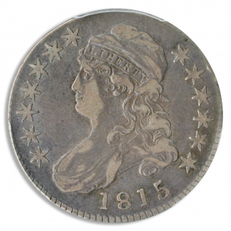 1815/2 Capped Bust Half Dollar Silver Coin PCGS Very Fine 30(VF30) CAC