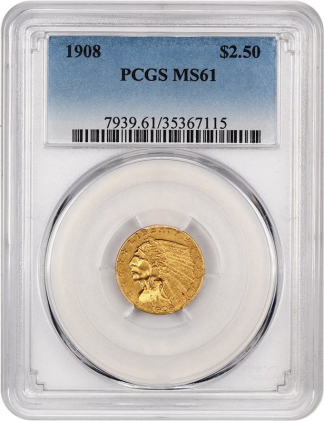 $2 1/2 Indian Certified MS61