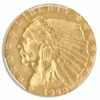 $2 1/2 Indian Certified MS65