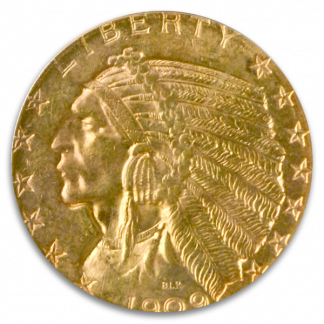$5 Indian Certified MS62