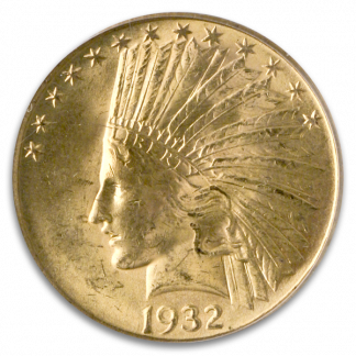 $10 Indian Certified MS64 CAC