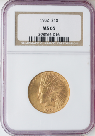 $10 Indian Certified MS65