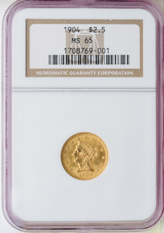 $2 1/2 Liberty Certified MS65