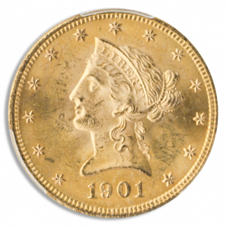 $10 Liberty Certified MS65
