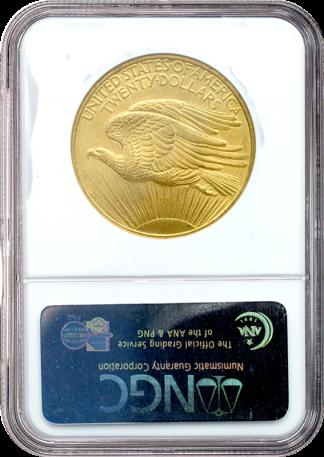$20 Saint Gaudens No Motto MS63 Certified
