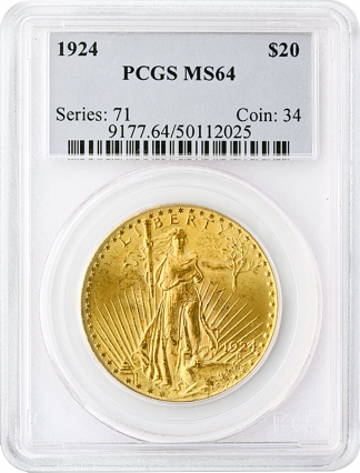 $20 Saint Gaudens MS64 Certified